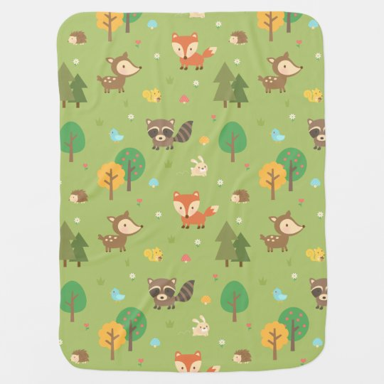 Cute Forest Woodland Animal Pattern For Babies Baby