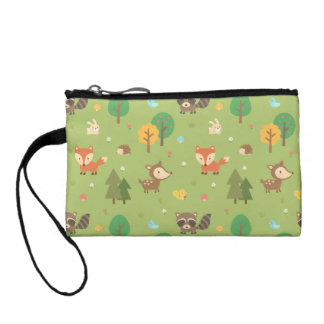 Cute Forest Woodland Animal Pattern For Kids Coin Purse