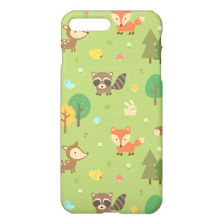 Cute Forest Woodland Animal Pattern iPhone 7 Plus Case