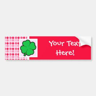 Cute Four Leaf Clover Car Bumper Sticker