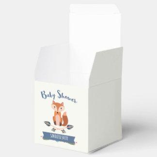 Cute Fox Arrows Baby Shower Favor Box Favour Boxes