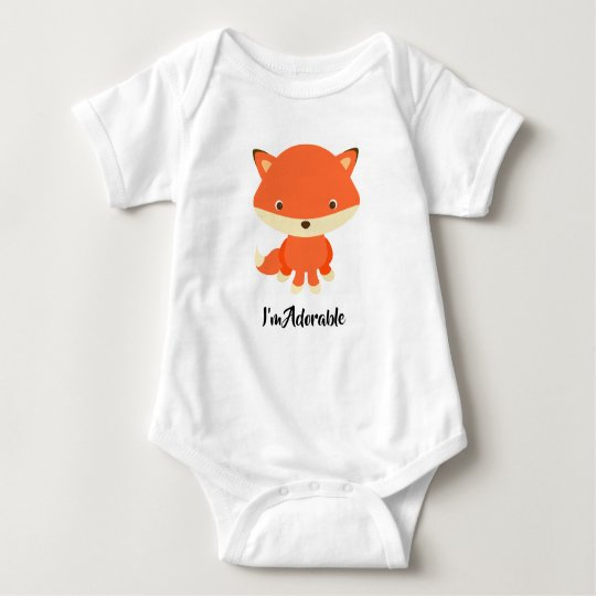 Cute fox baby vest baby bodysuit