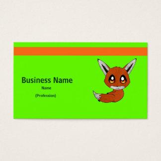 cute fox business card