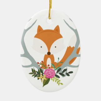 Cute Fox Christmas Ornament