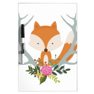 Cute Fox Dry-Erase Boards