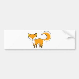 cute fox forest animal cartoon bumper sticker