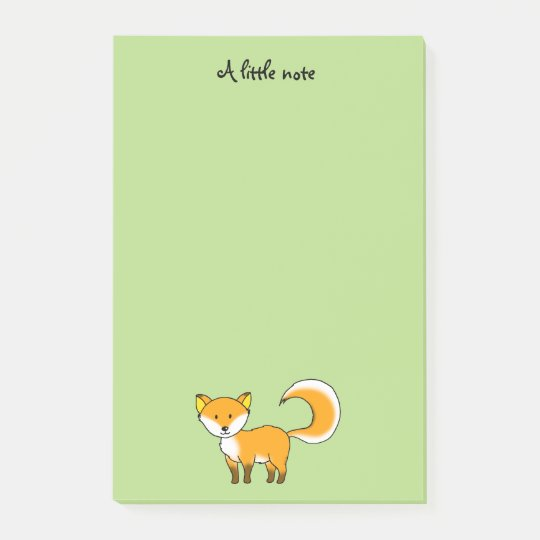cute fox forest animal cartoon post-it notes