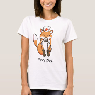 """Cute Fox """"Foxy Doc"""" Drawing Women's T-Shirt"""