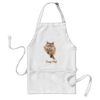 "Cute Fox, Funny ""Foxy Chef""  Saying, Cooking, BBQ Standard Apron"