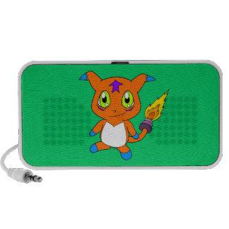 Cute fox-monster mini speakers