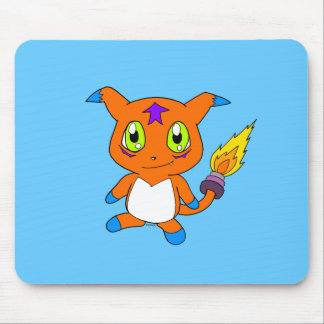 Cute fox-monster mousepad