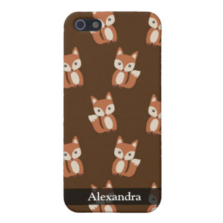 Cute Fox Pattern iPhone 5/5S Cases