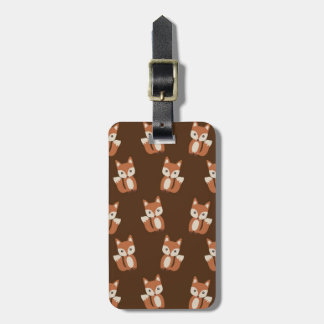 Cute Fox Pattern Luggage Tag