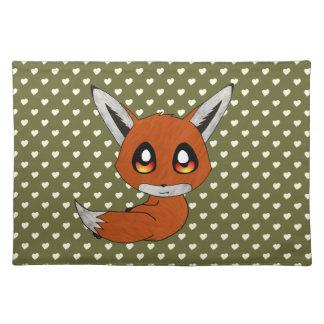 cute fox place mat