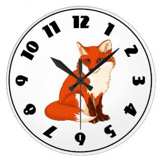 Cute Fox Sitting Clock