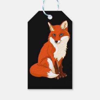 Cute Fox Sitting Custom Gift Tags