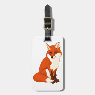 Cute Fox Sitting Luggage Tags