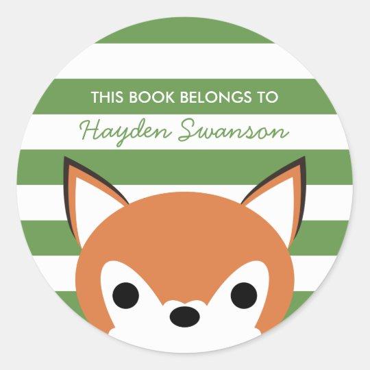Cute Fox | This Book Belongs To Classic