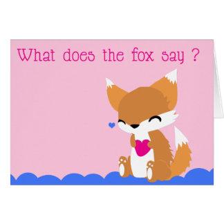 Cute Fox Valentines Card