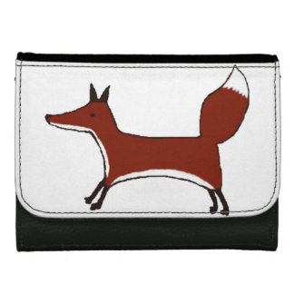 Cute Fox Wallet- Kawaii Kitsune - by Kawaii DayZoo Leather Wallets
