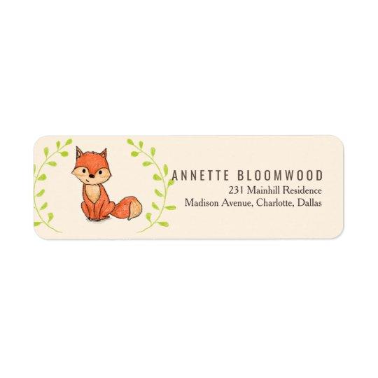 Cute Fox Woodland Baby Shower