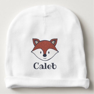 Cute Fox Woodland Theme Personalized Hat Baby Beanie