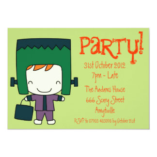 Cute Frankenstein Halloween Fancy Dress Invitation