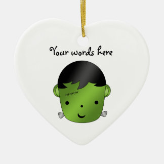 Cute Frankenstein monster Ceramic Heart Decoration