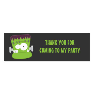 Cute Frankenstein Monster Thank You Party Favor Business Cards