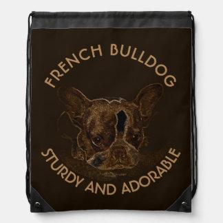 Cute French Bulldog Abstract Drawing Drawstring Bag