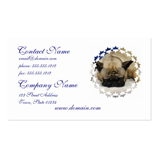 Cute French Bulldog Business Cards