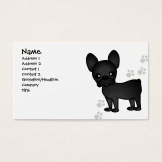 Cute French Bulldog Cartoon Black