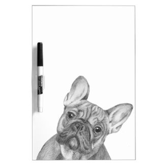 Cute French Bulldog dry-erase to do board and pen