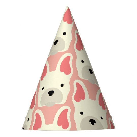 Cute French Bulldog. Party Hat