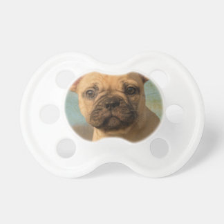 Cute French Bulldog Puppy - Funny Dog Head Photo - Baby Pacifiers