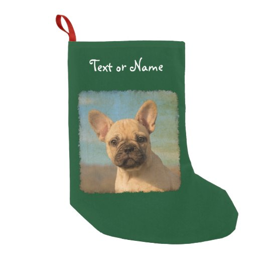 Cute French Bulldog Puppy - Personalised Santa Small