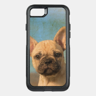 Cute French Bulldog Puppy Vintage Dog Animal - on OtterBox Commuter iPhone 8/7 Case