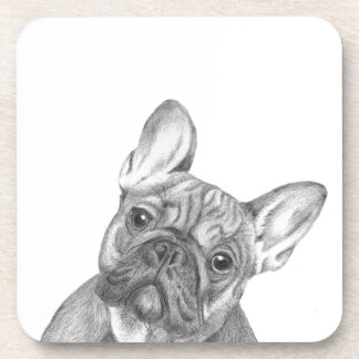 Cute French Bulldog set of 6 coasters