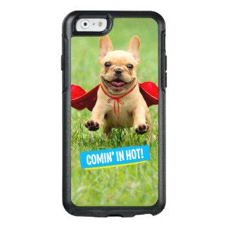 Cute French Bulldog Superhero Runs in Grass OtterBox iPhone 6/6s Case