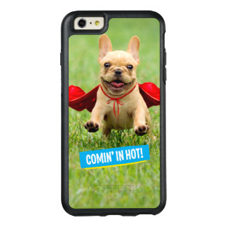 Cute French Bulldog Superhero Runs in Grass OtterBox iPhone 6/6s Plus Case