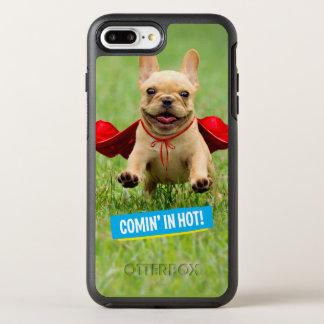 Cute French Bulldog Superhero Runs in Grass OtterBox Symmetry iPhone 8 Plus/7 Plus Case