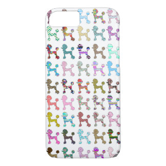 Cute French Poodle Girly Whimsical Chevron Pattern iPhone 7 Case