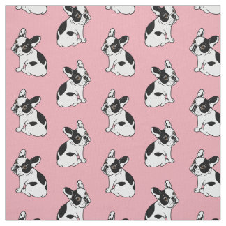 Cute Frenchie knows love is the only way Fabric