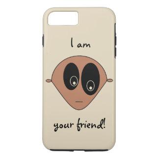Cute Friendly Alien Face Design iPhone 8 Plus/7 Plus Case