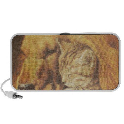 Cute Friendly Cat & Dog Hakuna Matata Gift Relatio Notebook Speakers