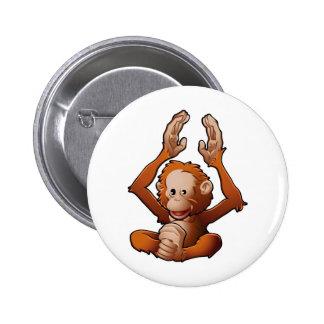 cute friendly Orangutan Buttons