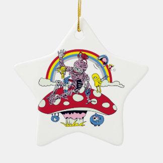 cute friendly zombie bliss vector cartoon christmas ornament