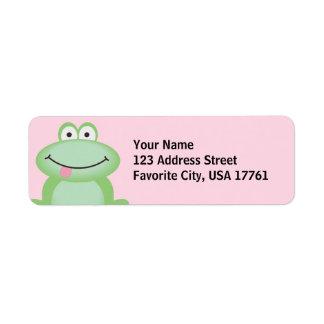 Cute Frog Address Labels