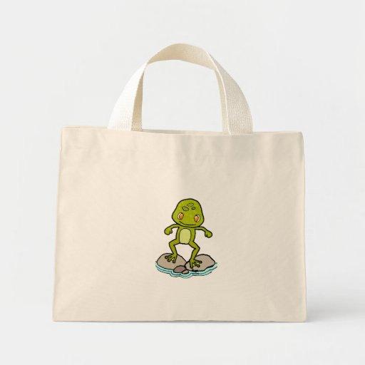 Cute frog tote bags