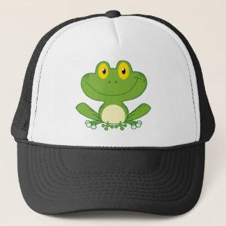 Cute Frog Cartoon Character Trucker Hat